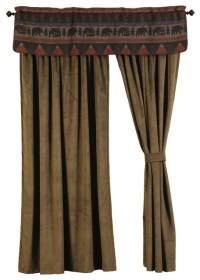 Wooded River - Cabin Bear Drape Set - View in Your Room ...