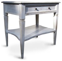 Oxford 1 Drawer Side Table, White Wash - Tropical - Side ...