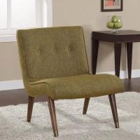 Mid-century Guacamole Armless Chair - Contemporary ...