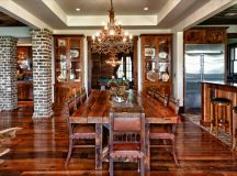 Custom Home - Rustic - Dining Room - Charleston - by ...
