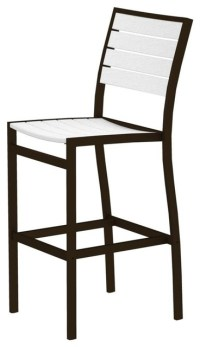 Eco-friendly Bar Side Chair in White - Contemporary ...