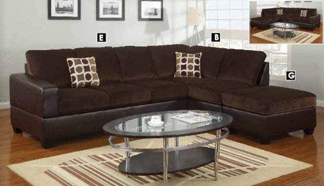 polaris contemporary leather sofa set sleeper sofas new york city poundex furniture – u-shaped modular microfiber sectional ...