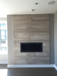 Help-Tile around recently installed fireplace surround ...