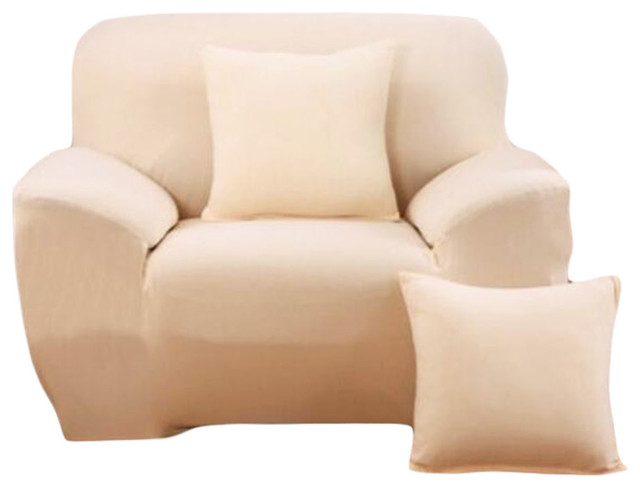 fashion single person sofa slipcovers modern style couch covers beige