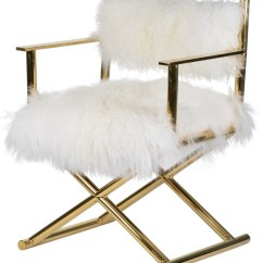 Directors Chair White Wheelchair Code Mongolian Fur Director S Contemporary Armchairs And Accent Chairs By Hedgeapple