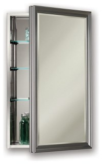 "Studio V 15"" x 25"" Satin Nickel Medicine Cabinet, Surface"