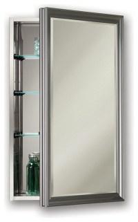"Studio V 15"" x 25"" Satin Nickel Medicine Cabinet, Surface ..."