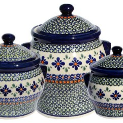 Kitchen Pottery Canisters Pantry Storage Ideas Polish Canister Set Pattern Number Du60set Farmhouse And Jars By Market