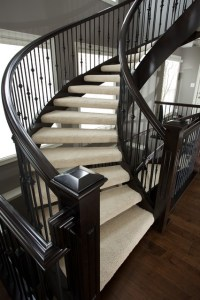 180 degree open rise stair - Traditional - Staircase ...
