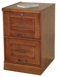 Mission Style Oak Two Drawer File Filing Cabinet ...