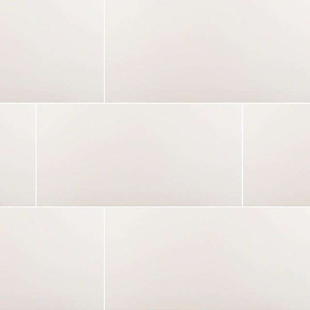 domino white matte porcelain tile 12 x24 set of 40
