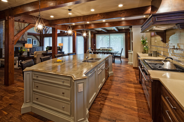 Luxury Timber Frame  Traditional  Kitchen  Vancouver