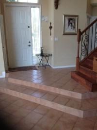 Different entryway flooring then flooring through rest of ...