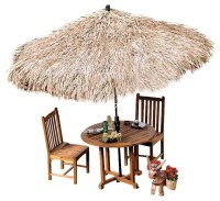 Tropical Thatch Umbrella Cover - Tropical - Outdoor ...
