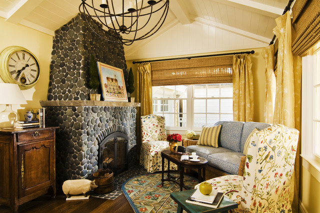 California Cottage Traditional Living Room San