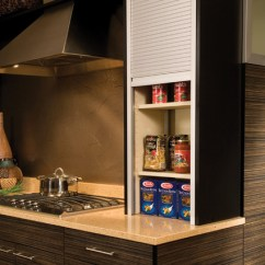Metal Kitchen Cabinets Manufacturers Christmas Towels Straight Appliance Garage Tambour - Modern ...