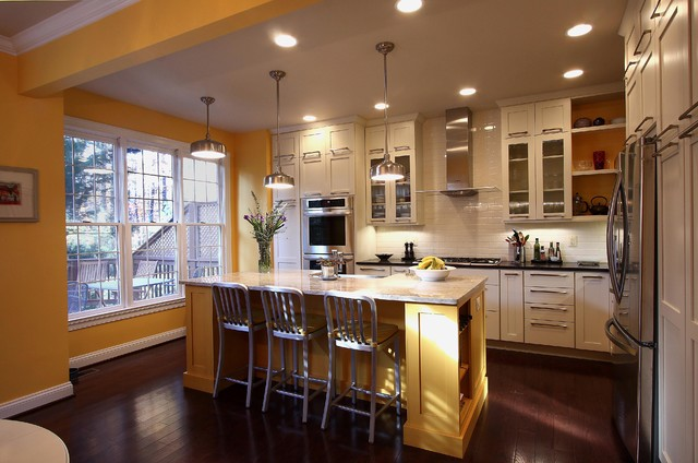 industrial kitchen faucet qvc.com shopping contemporary townhouse - transitional ...