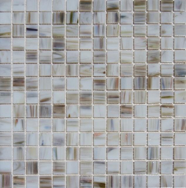 ivory iridescent mosaic glass tile sample