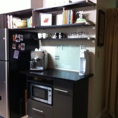 Kitchen Open Shelves Las Vegas Strip Hotels With Coffee Bar - Contemporary Vancouver