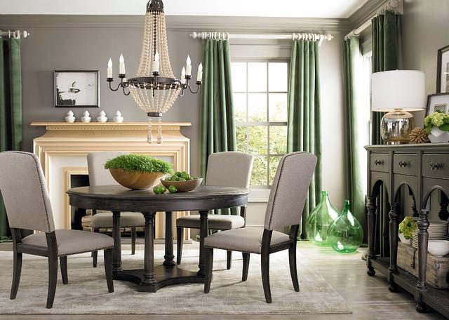 Emporium Round Dining Table by Bassett Furniture  Contemporary  Dining Room  by Bassett Furniture