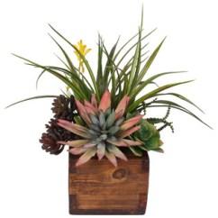Living Room Arrangements With Sectionals Sofas Artificial Agave Pelona Plant Succulent Arrangement ...