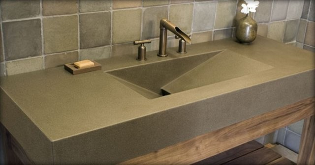 Polished Concrete Sink
