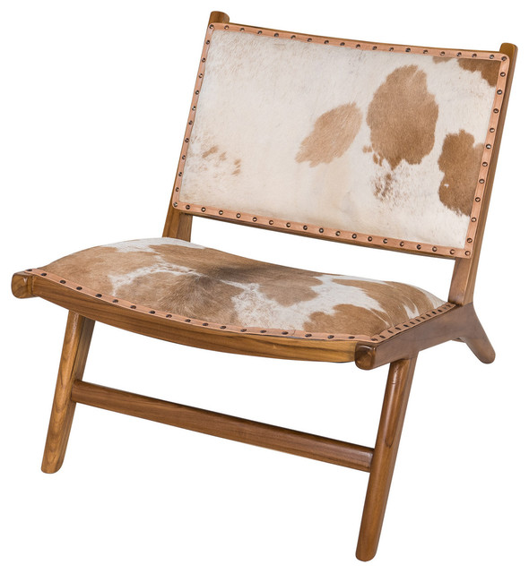 Harley Low Rider Cowhide Lounge Chair Brown  Asian