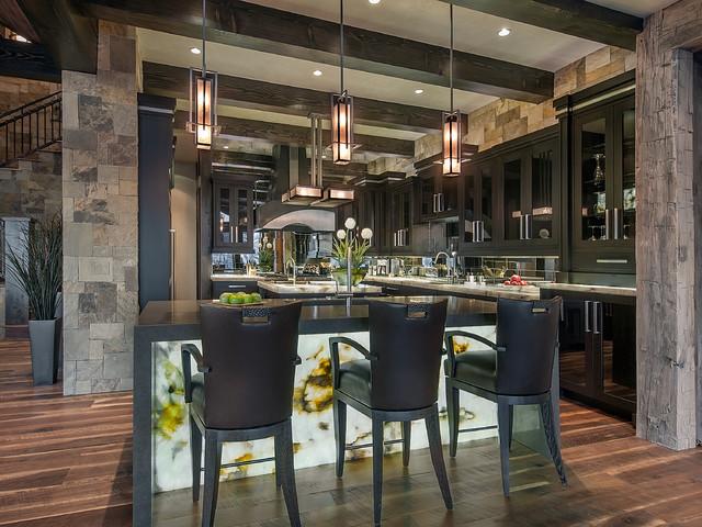Modern Mountain Kitchen Contemporary Kitchen Denver
