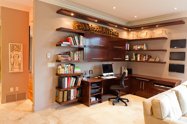 Custom Desk  Contemporary  Home Office  Edmonton  by Habitat Studio