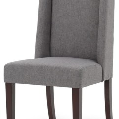 Modern Gray Dining Chairs Chair Covers Hire Sydney Cline Elegant High Back Set Of 2 Transitional By Gdfstudio