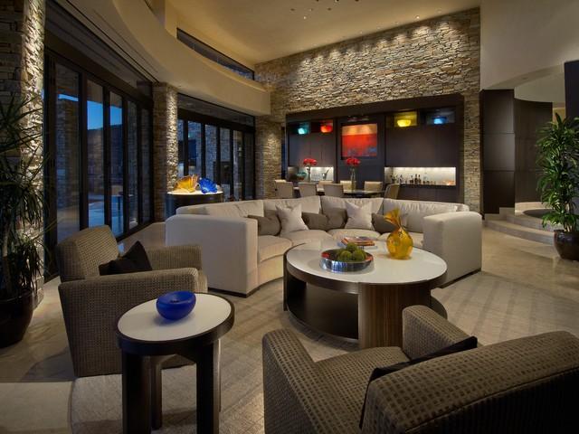 Elegant Contemporary  Contemporary  Living Room