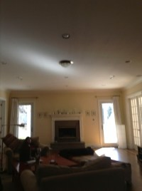 Before & After - Coffered Ceiling