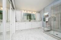 Union City Beautiful White Master Bath - Transitional ...