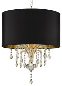 """""""Bellissimo"""" Ceiling Lamp, Gold With Black Shade ..."""