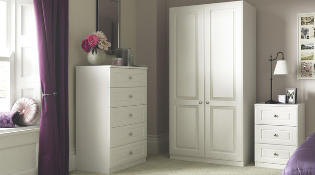 Contemporary White Shaker Style Bedroom Furniture  Contemporary  Bedroom  Hampshire