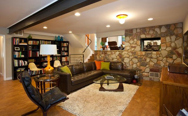 ragley hall residence basement midcentury basement atlanta