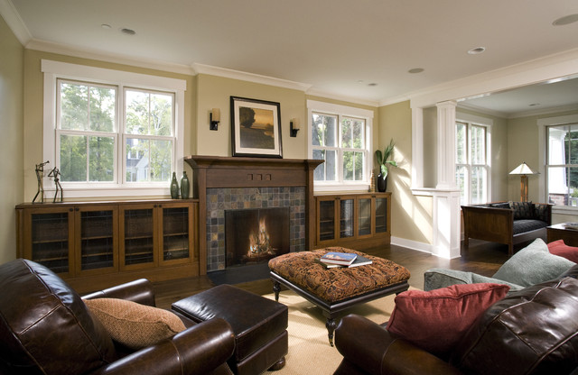 Family Room Decorating Fireplace