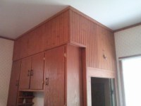 Wood Chair Rail/Paneling in Kitchen