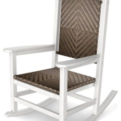Woven Rocking Chair Moon Chairs For Adults Polywood Presidential Rocker Tropical Outdoor By Frontera Furniture