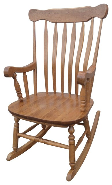Candlewood Rocker Harvest Oak Finish  Traditional
