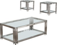 Avignon Glass Top Coffee and End Table - Contemporary ...