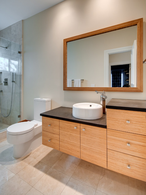 Richlite Countertop Bamboo Vanity - Contemporary - Bathroom - Miami - By