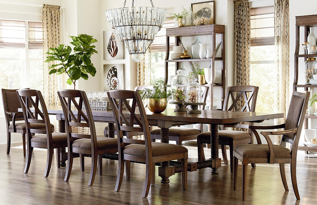 Compass 104 Trestle Dining Table by Bassett Furniture  Contemporary  Dining Room  Other  by