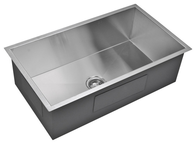 stainless steel undermount kitchen sinks new designs 33 x19 single basin sink modern by water creation