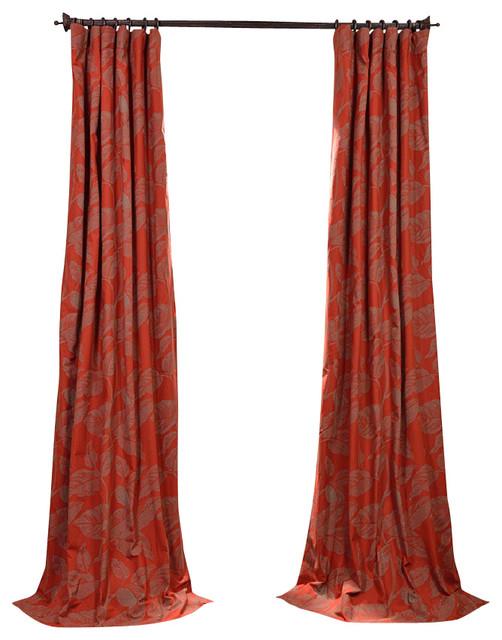 Shop Houzz Exclusive Fabrics & Furnishings LLC Bali Red Printed