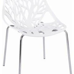White Plastic Dining Chairs Director Chair Cover Pattern Tree Cutout By Hampton Modern