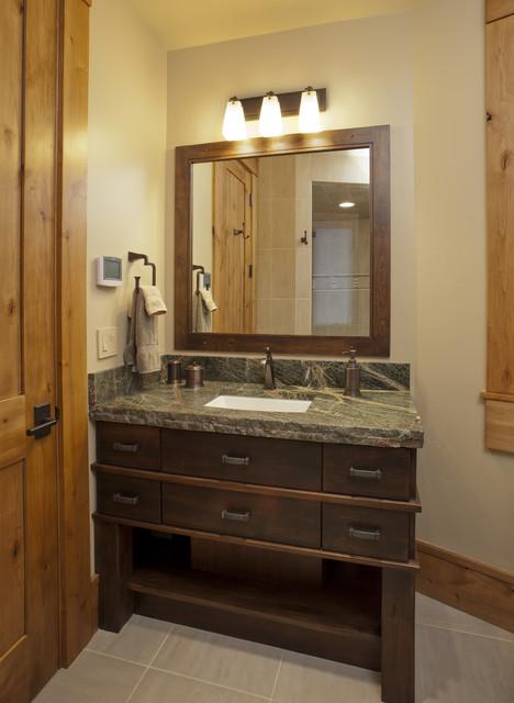 Mountain Modern bathroom  Contemporary  Bathroom  denver  by Lynne Barton Bier  Home on the