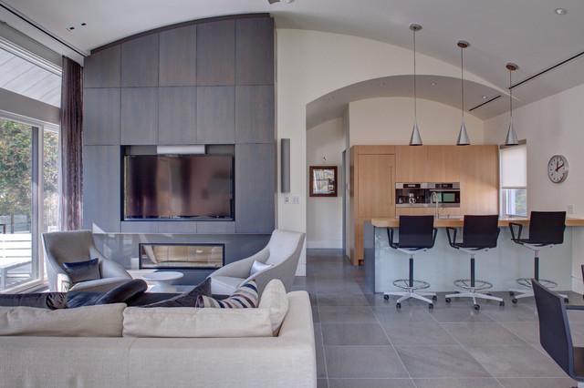 GarageMan Cave Modern Living Room Other By Weaver