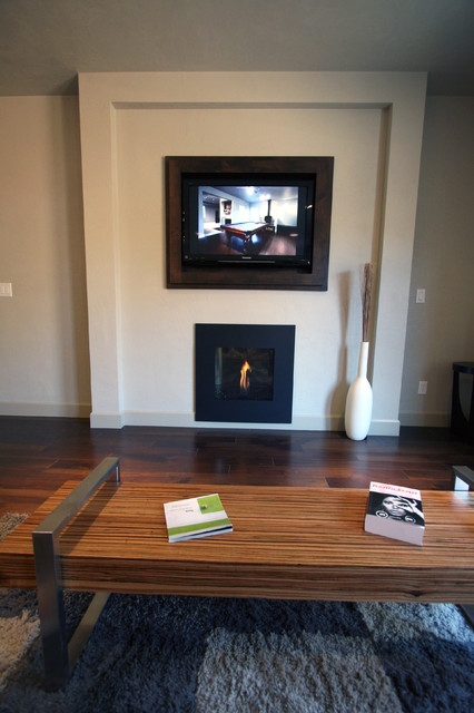 Living Room  Fireplace  Builtin Cabinet Detail  TV