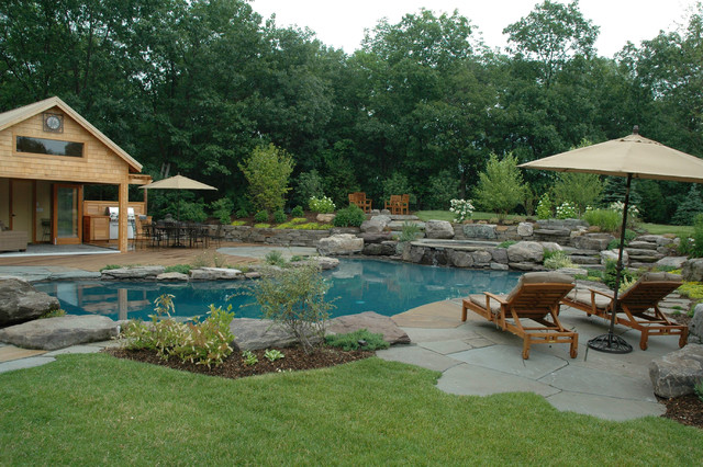 Natural Lagoon Pool Traditional Pool New York By